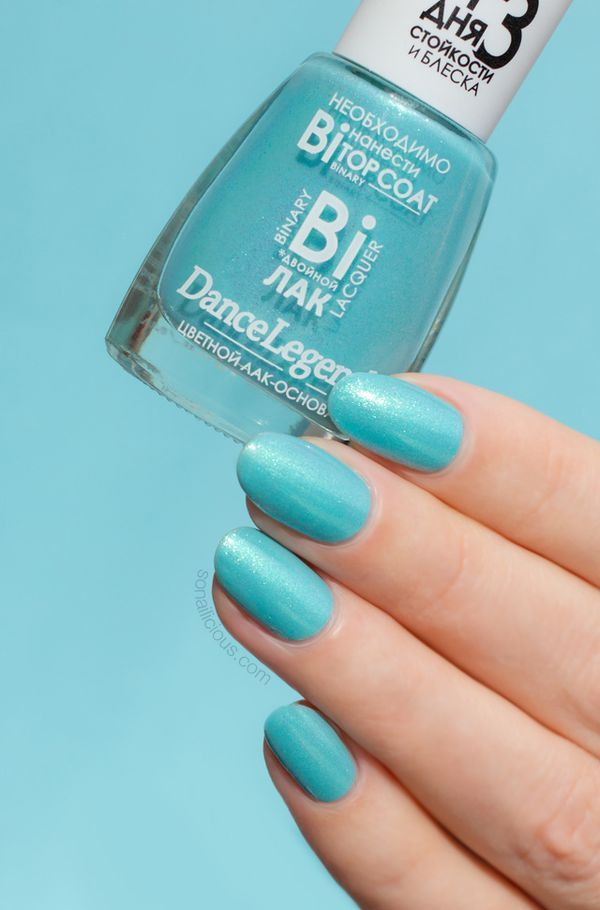 the most beautiful turquoise nail polish, perfect for summer- Dance Legend Linda