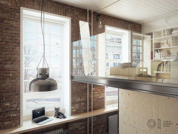 17 mejores ideas sobre pequeños apartamentos de tipo loft en ...