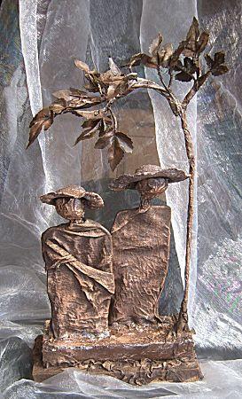 Paverpol beeldje verven