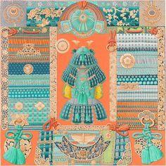 Parures de Samouraïs | Réf. : H003071S 06 corail/turquoise/beige | Aline Honoré | €350