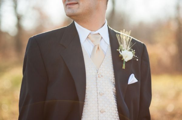 groom's attire, rustic boutonniere, elegant vintage fall wedding, rustic wedding ideas, A.J. Dunlap Photography