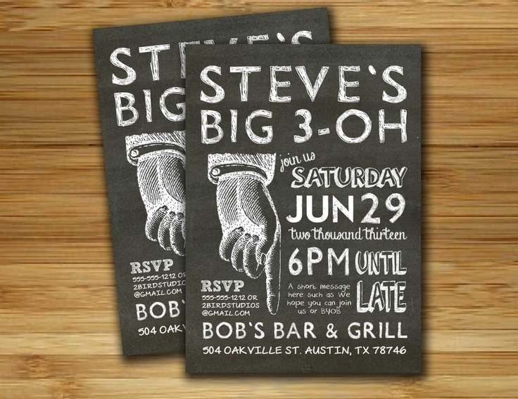 17 Best images about 30th Birthday Invite – Male 30th Birthday Invitations