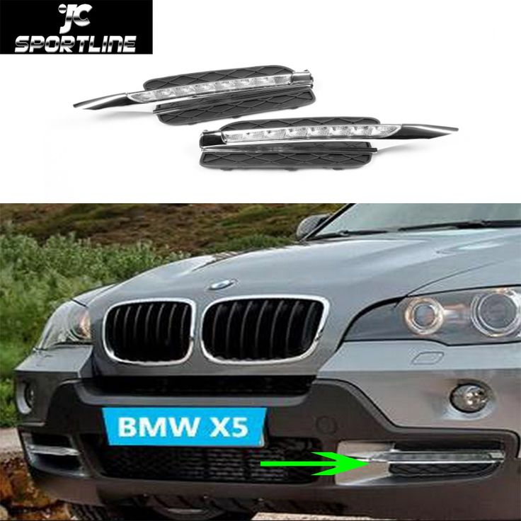 146.68$  Buy here - http://aliz3b.worldwells.pw/go.php?t=693617944 - E70 X5 ABS Front Daytime Running Light lamp Car LED DRL Head Lamps For BMW E70 X5 2008-2012