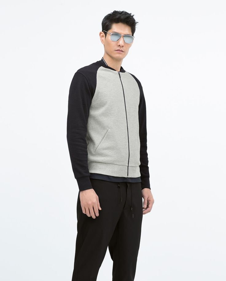 ZARA - MAN - BASIC PIQUÉ BOMBER JACKET