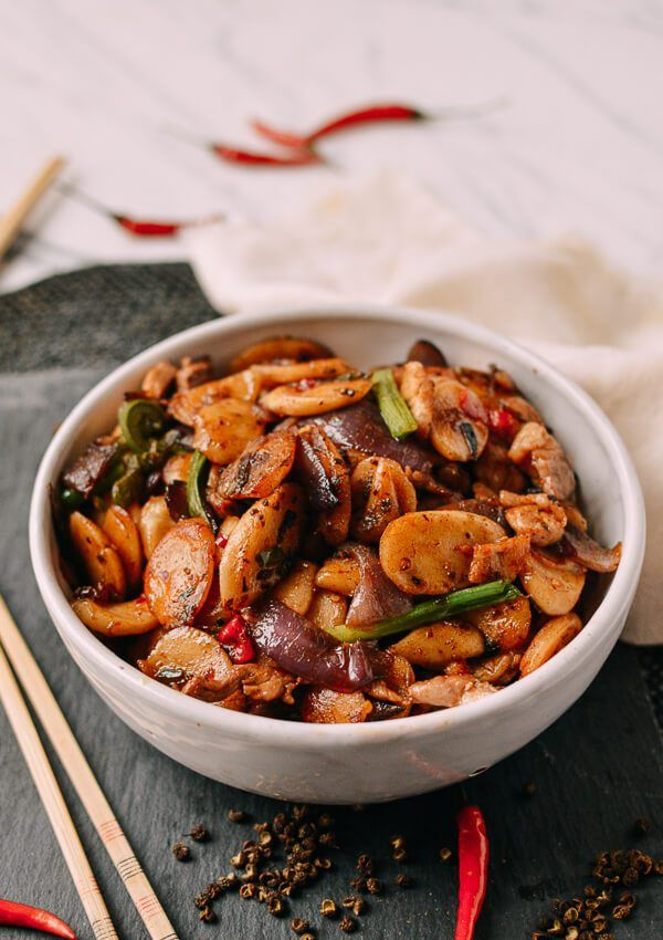 Spicy Stir Fried Rice Cakes With Sichuan Peppercorns The Woks Of Life Recipe Recipes Stir Fry Rice Rice Cakes