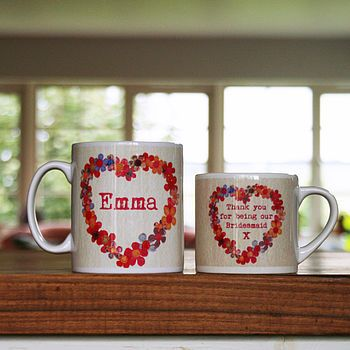 Personalised Mug For Bridesmaids Nice, we can make our own design ? right ? we're the Manufacturer who make this one. we use the 3D Sublimation printing technology to print the images on the Mug, which dramatically improves its wear resistance compared to ordinary ones.