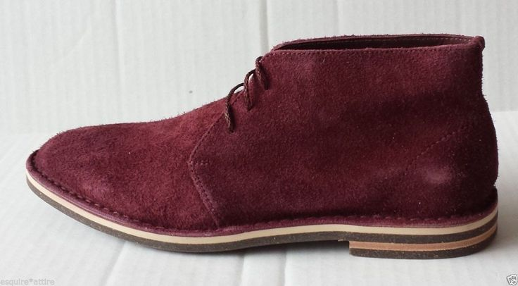 Cole Haan men size 8.5 #boots burgundy suede material NWB   Paul Winter Chukka ColeHaan visit our ebay store at  http://stores.ebay.com/esquirestore