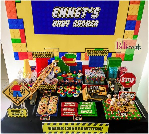 Find This Pin And More On Baby Shower Lego Theme Ideas By Mymess07.