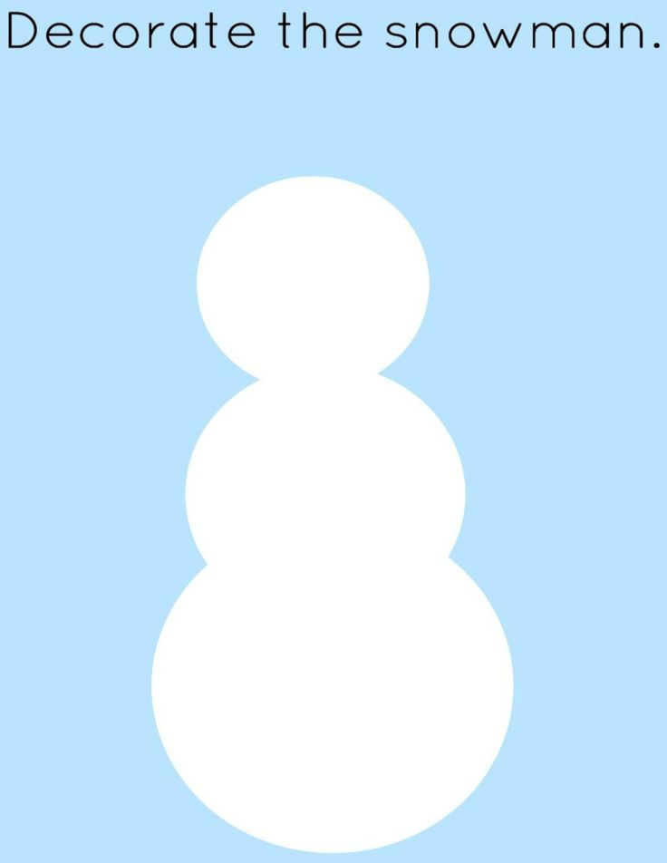 Kleed de sneeuwman aan - Winter