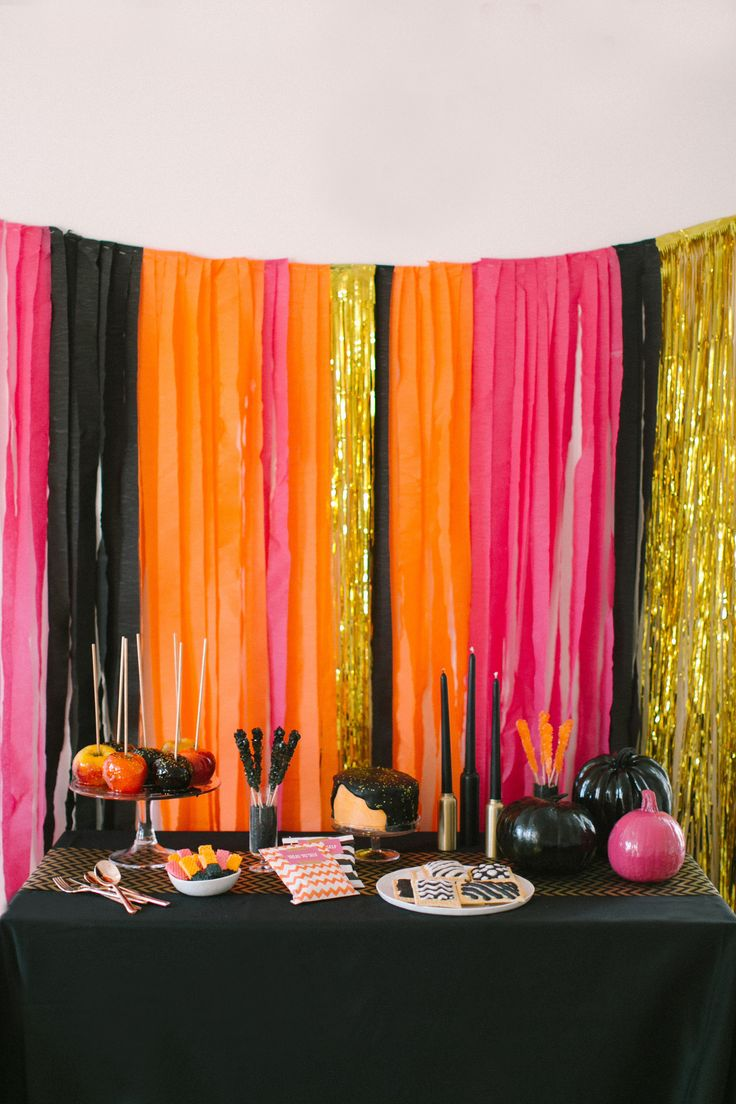 Homemade halloween party decoration ideas - A Kate Spade Inspired Halloween Party