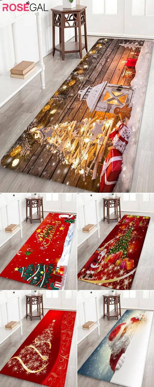 Rosegal Christmas Rugs Red Xmas Bathrug Home Decor Ideas Christmas Rugs Christmas Home Christmas Deco