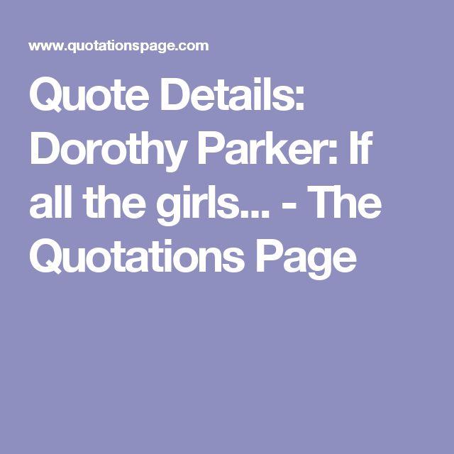 Dorothy Parker Quotes: 17 Best Images About Dorothy Parker On Pinterest