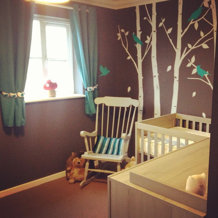 Nursery d purple and grey though d still love the for Pinterest baby decor