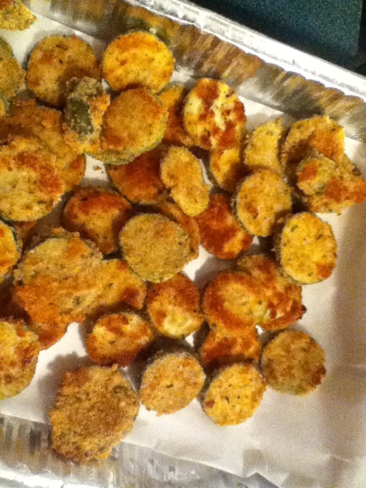 Zucchini battered and baked in the oven mm good and healthy snack !