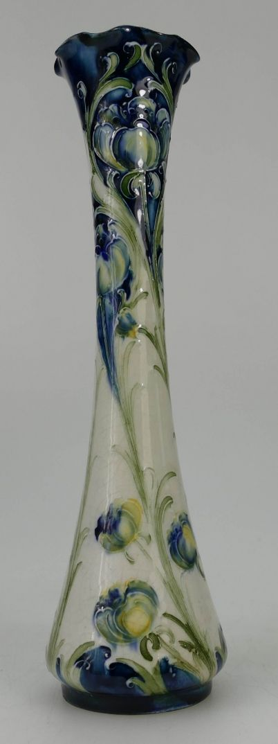 Rare 20th century Pottery, Antique, Collectors and Fine Art Auction – Lot 820 – Moorcroft Macintyre Florian vase decorated in the Poppy design, height 25cm.  Sale Price £1,050.00.