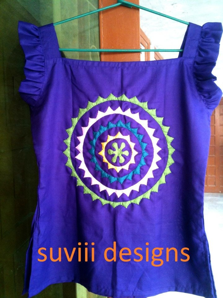 suviii design no. 001    Lila Handicrafts is launching a series of handmade cotton shirts/kurtis using the traditional applique art of Ralli Quilts to create exclusive and unique designs under 'suviii designs' Label. Mixing traditions with fashion is meant to generate work for the women artisan of Thar desert, in Sindh Pakistan, to earn their livelihood and spread the beauty of Ralli work of Indus valley civilization.  Contact on mvalasai@yahoo.com for more details about this unique women…