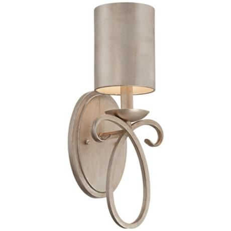 """Like!  Possible Vanity area, mstr br, dining rm, powder rm.  Silver Metal Shade 15 1/2"""" High Wall Sconce"""