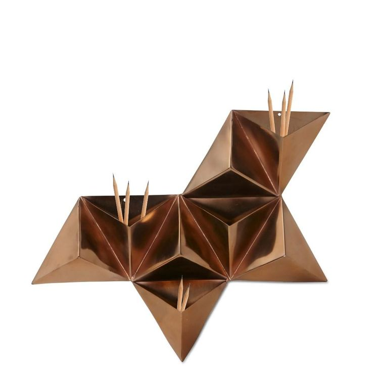 Copper Triangle Wall Pocket