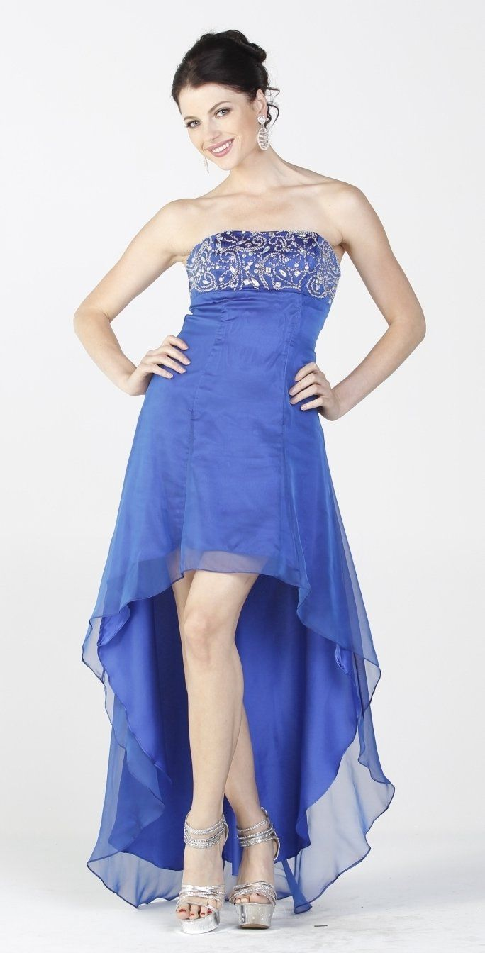 On Special Limited Stock 2 Tone Chiffon Royal Blue High