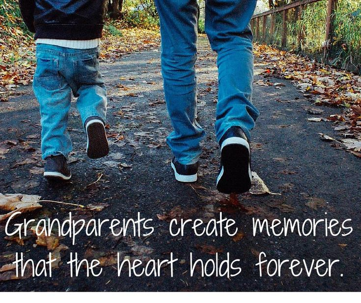 Grandparent Memories Quote:  Grandparents create memories that the heart holds forever.