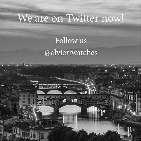 So, you're on twitter? Let's share your ideas, retweet and favorite Alvieri (@Alvieriwatches).