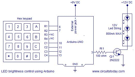 Motor speed control using arduino. PWM is used for controlling speed. Hex keypad is used for inputting the speed. Speed is controlled in sex steps.