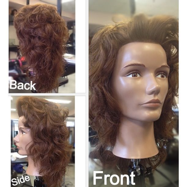 Curvature volume with rollers on increase layered hair