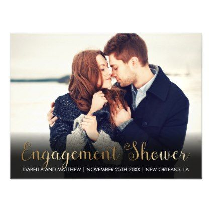 #engagement #party #invitations - #Bronze Font   Custom Image Magnetic Card