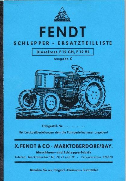 Fendt Schlepper Ersatzteilliste