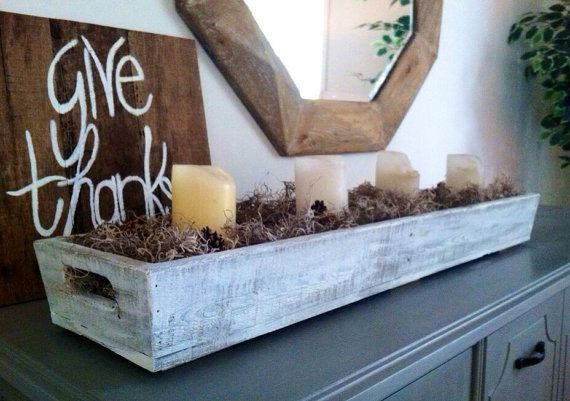 Free Shipping Large Long Wooden Tray Is Made Of Reclaimed