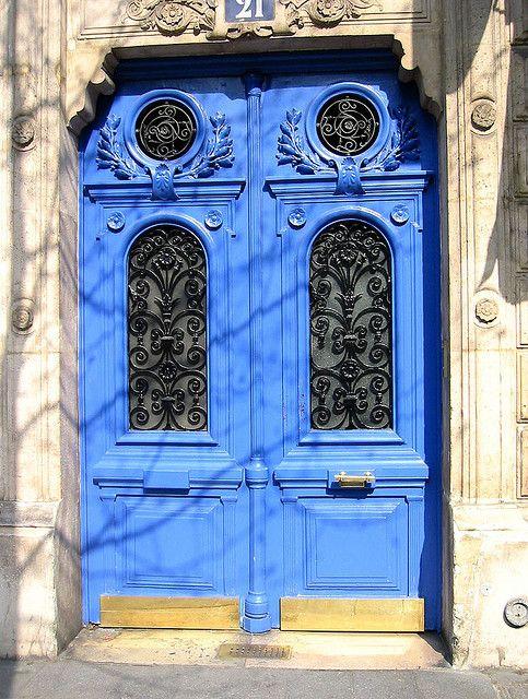 Blue doors- Paris by r a e d e k e, via Flickr