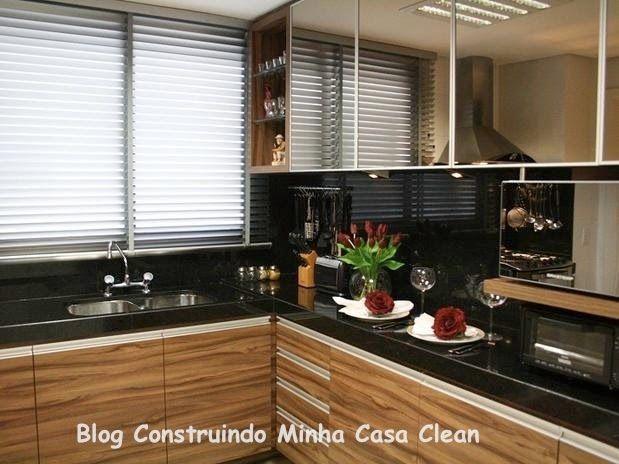 Construindo Minha Casa Clean: 25 Cozinhas Decoradas com Espelhos! Saiba como Usá-los!