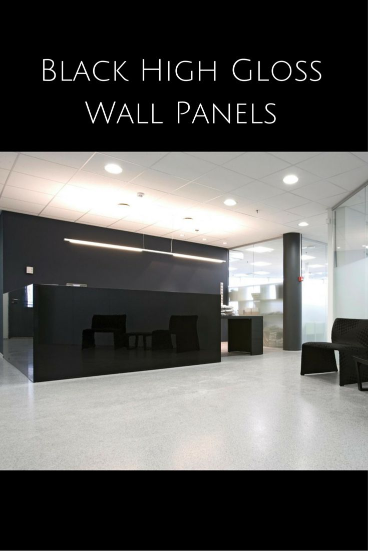 High Gloss Wall Paneling : High gloss wall panels which look like back painted glass