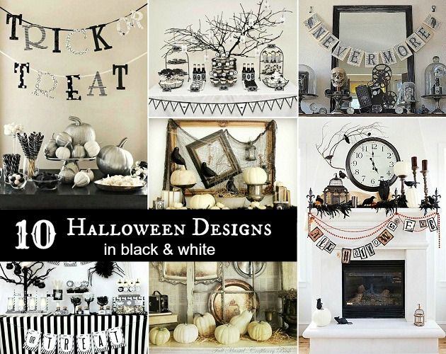 10 black and white halloween decorating ideas - Black And White Halloween Decorations