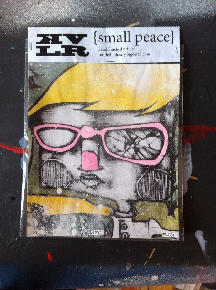 From the small peace series. Fun size, hand coloured prints.170mm x 195mm (approx)Signed and numbered by the artist KVLR.Edition of only 20.Free shipping UK