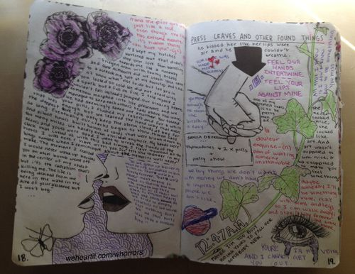 14 best images about journal ideas on pinterest green for Journal painting ideas