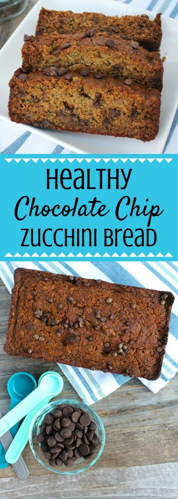 This Healthy Chocolate Chip Zucchini Bread Recipe is perfect for a nutritious breakfast. Use up your summer zucchini in this delicious, easy treat!