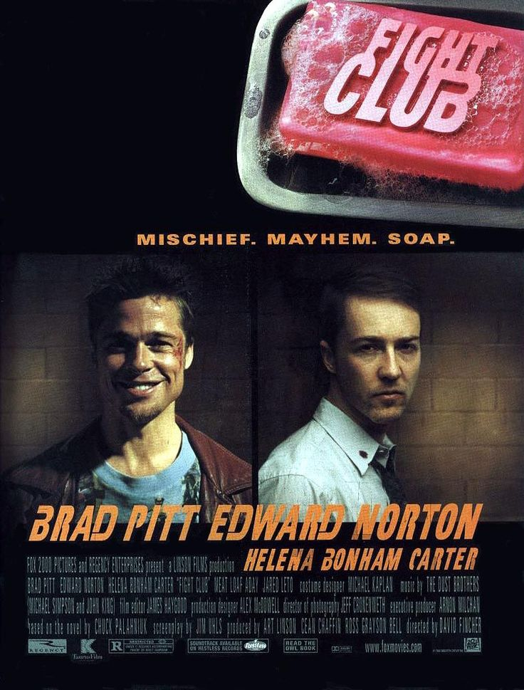 """Fight Club (1999) """"Tyler Durden: It's only after we've lost everything that we're free to do anything."""""""