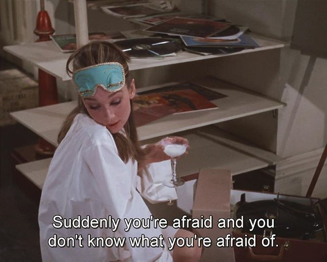 4. Favorite Quote: ☝I guess we all have this feeling sometimes and the best medicine is watching Breakfast at Tiffany's! What are you doing if you don't feel very well? | #AudreyHepburn #BreakfstAtTiffanys #TheMeanReds
