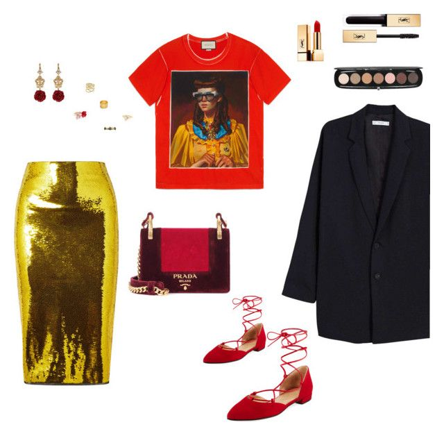 """Untitled #801"" by n-abagnale on Polyvore featuring Tom Ford, Gucci, MANGO, Prada, Stuart Weitzman, Dolce&Gabbana, Marni, Lana, Maya Magal and Armenta"