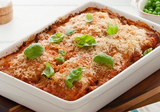 Countdown - RECIPES - tomato hoki bake