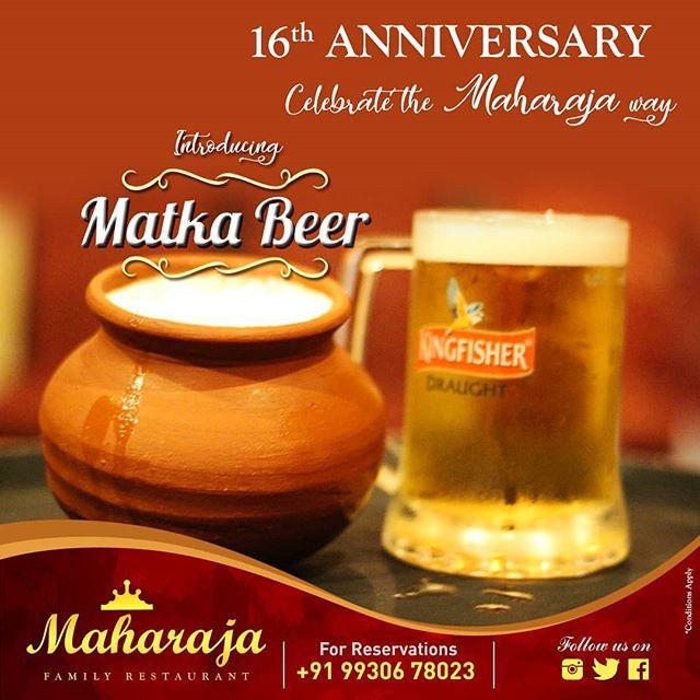 It's FEBREWRY at Maharaja! Introducing MATKA BEER. Ask for infused beer. Call 9930678023 . . . . . .  #Maharaja #MaharajaMangalore #MaharajaRestaurant #MaharajaFamilyRestaurant #Restaurant #IndianFood #igersindia #igers #beer #ilovebeer #beerlovers #matkabeer #mangalore #karnataka #kudla #gsb #gsbcuisine #homemade #mangalorerestaurant