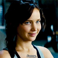 A deleted scene from Catching Fire Movie in GIF form! The video isn't available anywhere yet - but isn't this awesome?It features Katniss and Finnick being hilarious!
