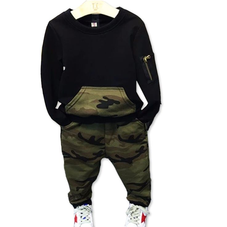 Fashion camouflage kids boys clothes set autumn toddler clothing 2pcs black t shirt+pants boy sports suit leisure clothes #>=#>=#>=#>=#> Click on the pin to check out discount price, color, size, shipping, etc. Save and like it!
