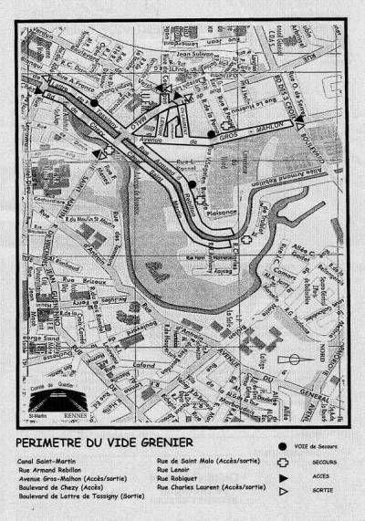 affiche Braderie-vide grenier du Canal Saint Martin