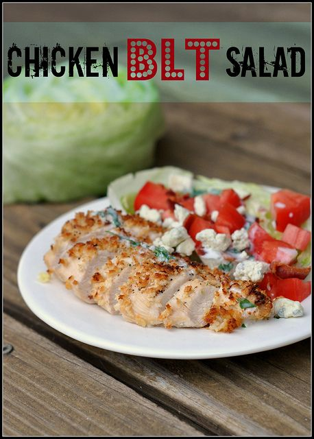 Chicken BLT Salad | Healthy living | Pinterest