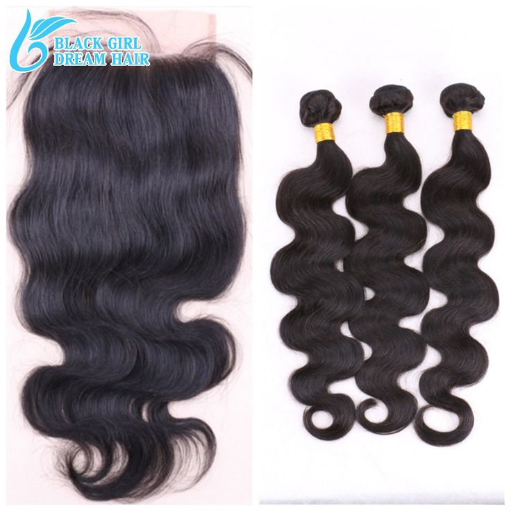 Malaysian Hair 5x5 Lace Closure With Bundles 3/4 Pcs Lots ,Hair Bundles With Swiss Lace Closure Bleached Knots With Baby Hair