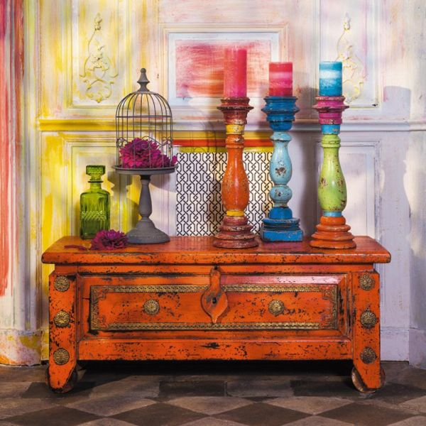 Bohemian Candles ..... Bohemian Eclectic Interior Decorating | The Modern Bohemian Abode | Hey Mishka