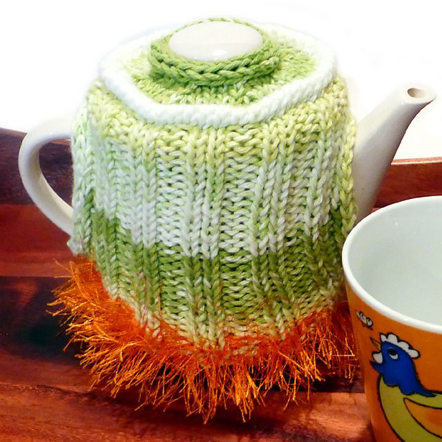 Ravelry: Dance of the Hours Tea Cozy pattern by Caroline Steinford. 20% off thru midnight Sunday Jan. 29, 2017 with code timefortea.