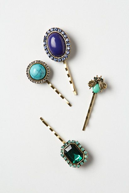 Cameo Hairpins via Anthropologie.